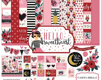 Hello sweetheart by carta bella paper pack
