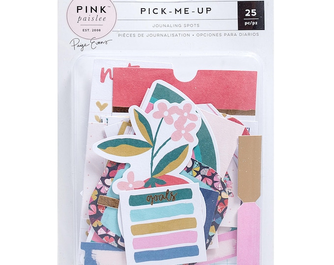 Pick me up pink paislee journaling set die cuts