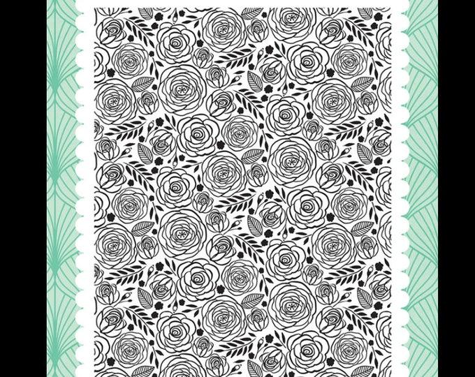 Fashionista dainty Rose 4x6 stamp set
