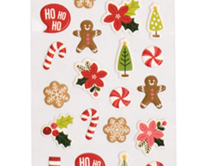 Merry merry puffy stickers
