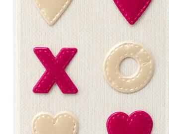 Dear lizzy xoxo fabric stickers