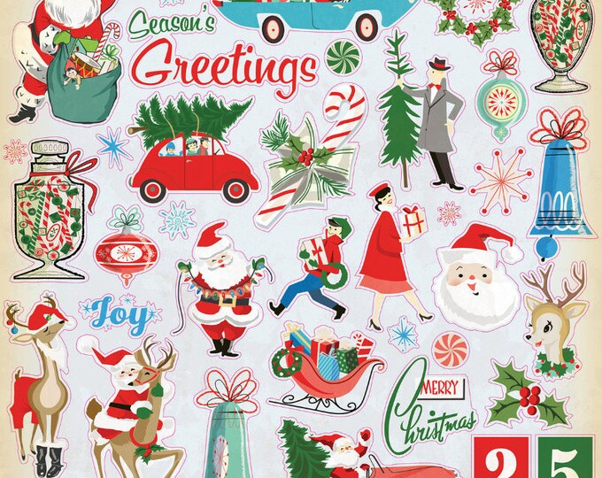 Very merry Christmas sticker sheets