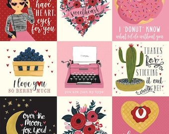 Hello sweetheart 3x4 journaling cards