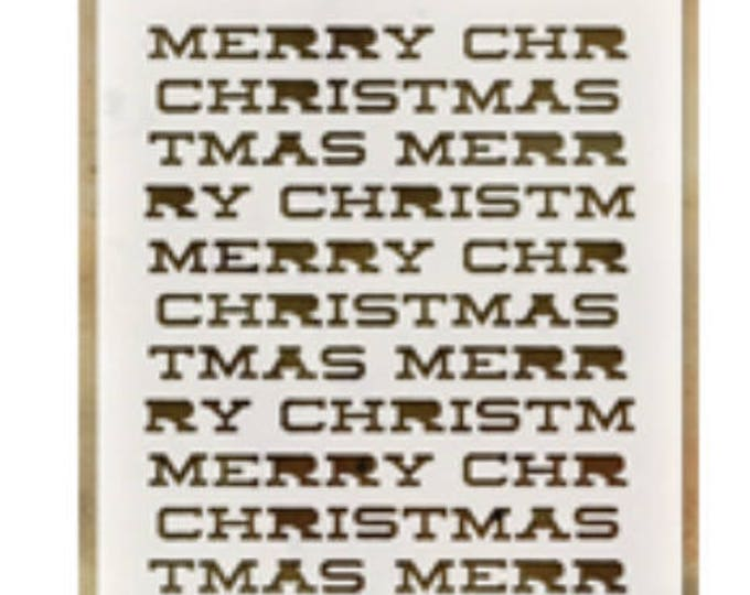 Merry Christmas layering stencil