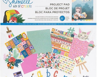 Shimelle box of crayons 12x12 paper pad