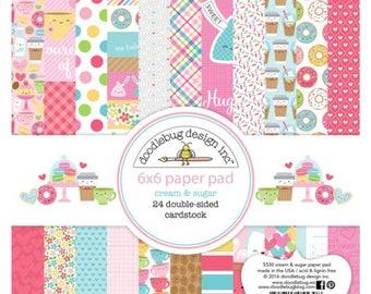 Doodle bug cream and sugar 6x6 paper pad
