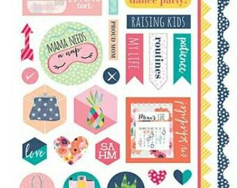 Bella blvd mom's life 12x6 stickers