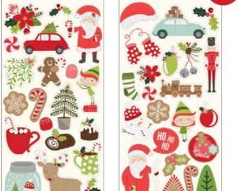Merry merry sticker sheet 6x12