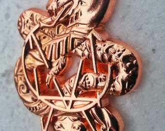Skrillex OWSLA Henna Snakes 3D Hat Pin