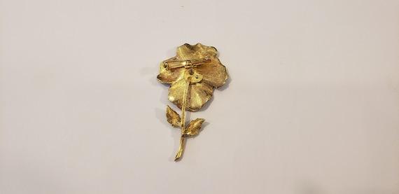 Pansy Brooch/Flower Brooch/Enamel Brooch/Gold Bro… - image 5