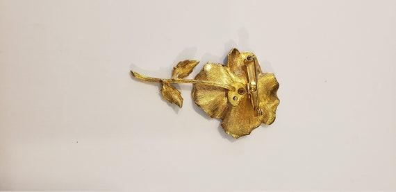 Pansy Brooch/Flower Brooch/Enamel Brooch/Gold Bro… - image 4