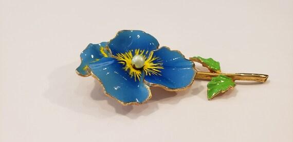 Pansy Brooch/Flower Brooch/Enamel Brooch/Gold Bro… - image 7