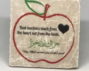 Best teachers teach from the heart not from the book  Teacher Appreciation   Eid Gift   End of school Year Gift  