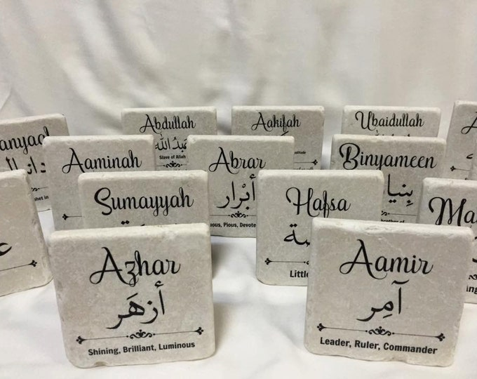 "Featured listing image: 4""x 4"" Custom Name Tile 