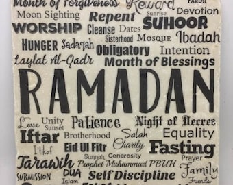 Ramadan Word Art | Month of blessings | Month of forgiveness | Eid |