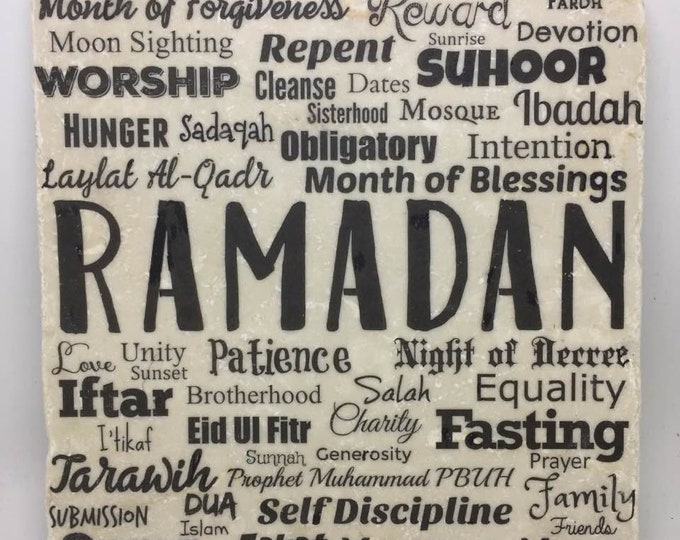 Featured listing image: Ramadan Word Art | Month of blessings | Month of forgiveness | Eid |