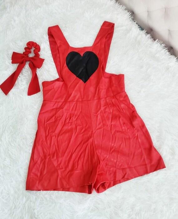 Glam Babe // Vintage 70s Handmade Bright Red Wet L