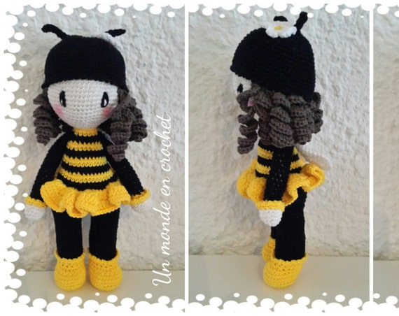 French bee (PDF in french) doll tutorial