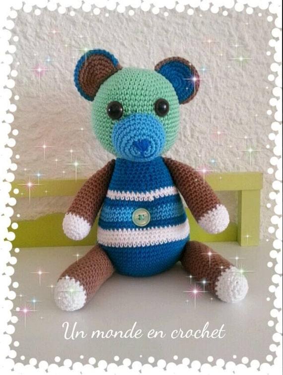Teddy bear crochet (PDF in french)