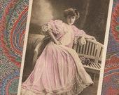 Gabrielle Robinne Belle Époque Actress Edwardian Fashion Reutlinger Paris Original Antique French Postcard Year 1906