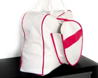 Large tennis bag - fits 2 racquets