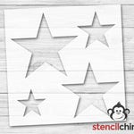 Star Stencils (Stencil contains 4 stars in various sizes!) | DIY Art Stencil