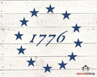 Usa Flag Stencil Etsy