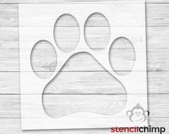 paw print stencil etsy