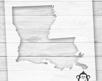 Louisiana State Outline Stencil   Louisiana Stencil   New Orleans Stencil   US State Stencil   DIY Art Stencil for Wood   Map Stencil Sign