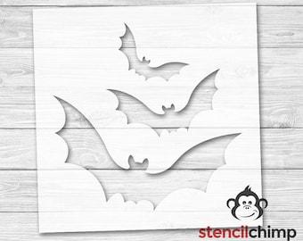Bat Stencil | Halloween Decor |  Set of Bats | Vampire Stencils | Stencils for Wood Sign