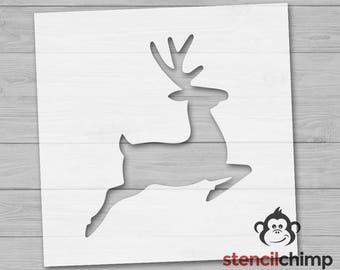 Reindeer Stencil   Christmas Stencil   Deer Stencil   Holiday Stencil   Winter Decor   Rudolph Stencil   Santa's reindeer   DIY Art Stencil