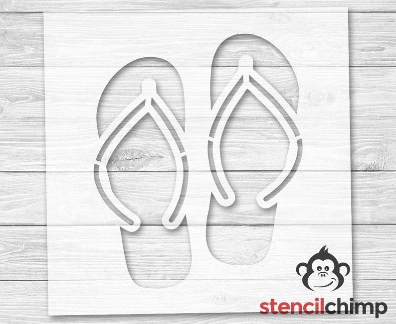 9ce1a4109 Flip Flop Stencil Sandal Stencil Ocean Stencil Beach
