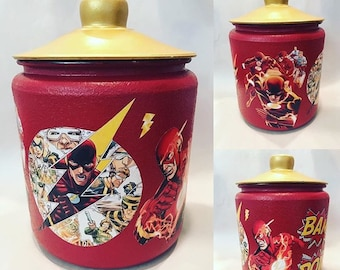 Custom Made Cookie Jar, WanderLust Jar, The Flash Edition