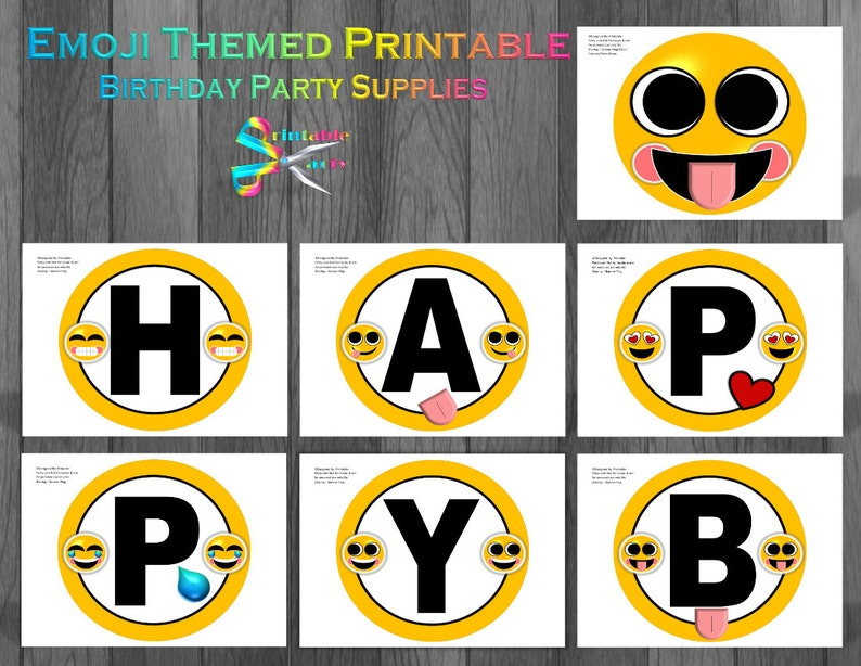 Emoji Printable Party Supplies
