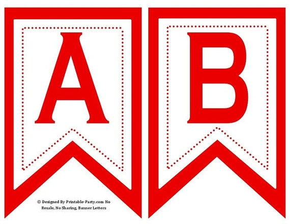Red Letters Printable Great Home Inteiror
