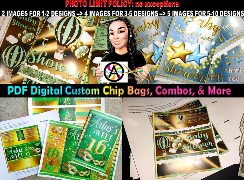 PDF Personalized Chip Bag Designs  Custom Chip Bags  Candy image 0