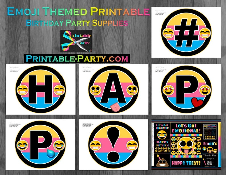 Printable Emoji Birthday Party Decorations And Theme Supplies