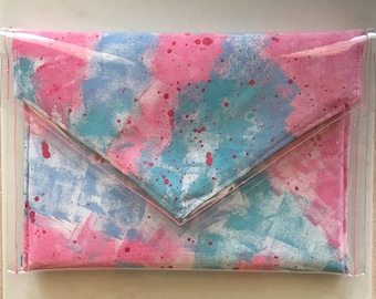 PVC Clutch-Hand Painted Clutch-Contemporary Clutch
