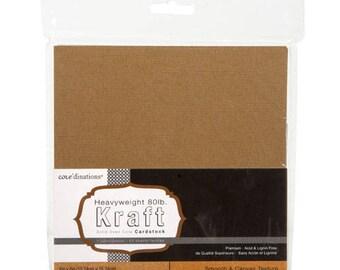 Core'dinations Core Basics Assorted Texture Kraft Cardstock - 6 x 6 - 40 sheets