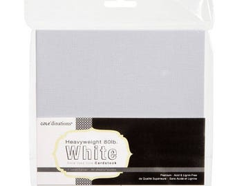 Core'dinations Core Basics Assorted Texture White Cardstock - 6 x 6 - 40 sheets