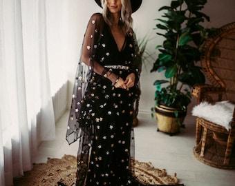 Star Black Dress Deposit- Preorder - DEPOSIT or toal*