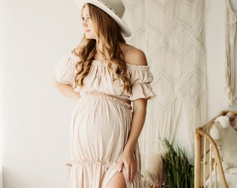 Special*Price* - Chalet Dress set- linen dress for photographers/ maternity/ special occasions - pre order