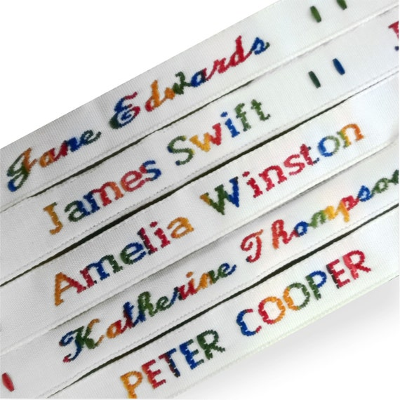 ETC CLOTHES 75 PRE-CUT IRON-ON SCHOOL NAME TAPES LABELS TAGS FOR SCHOOLWEAR