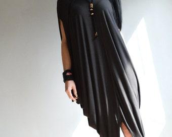 Kaftan Maxi Dress/ Womens clothing/ Asymmetric Cotton Caftan/ Boho Extravagant Dress/  Plus Size Kaftan/ Pluse size Tunic  ZM342
