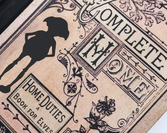 Harry Potter Dobby Inspired A5 Hardback Notebook. The Elf's Home Duties a Book For Elves Spell Book Magic Journal Blank Lined Paper Inside.