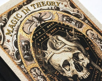 Harry Potter Inspired A5 Hardback Notebook Magic In Theory Bewitchments and Charms. Magic Spell Book Journal. Blank Lined Paper Inside.