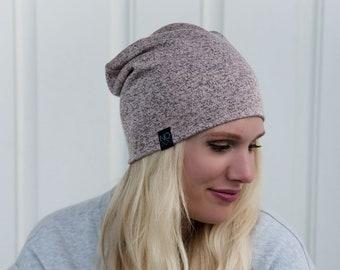6e0d35f0afe Soft Dusty Pink Beanie   Cute Fall Beanie   Girls NOXX Beanies   Slouchy Hat    Sweater Knit Hat