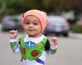 25016142e11 Sweater Knit Beanie   Heather Orange Beanie   Slouch Hat for Baby to Adult    Halloween