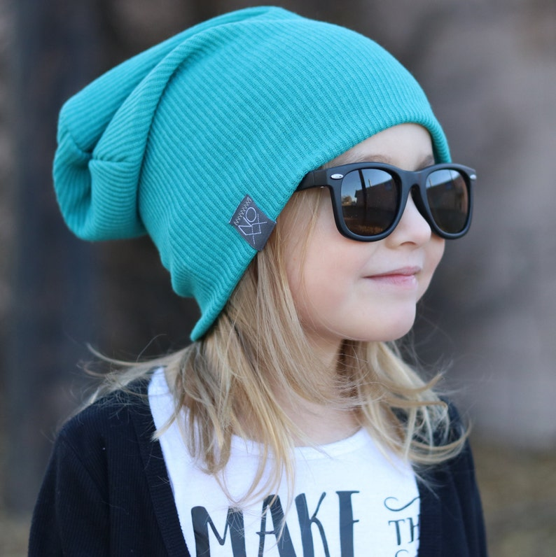 4bf4220d3 Teal Rib Knit / Baby Slouchy Hat / Toque / Noxx Beanies