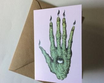 Hand of glory greetings card